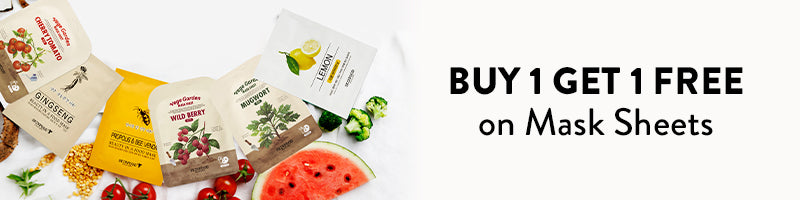 Buy 1 Get 1 FREE on Mask Sheets with code MASKON