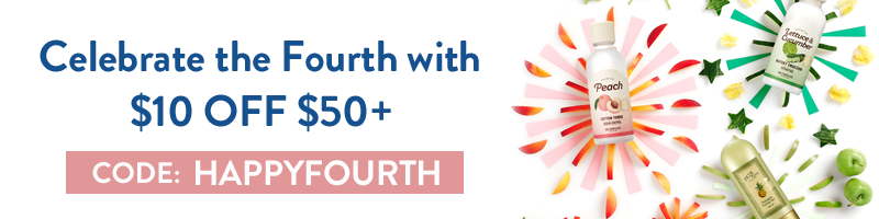 Celebrate the Fourth with $10 OFF $50+ with code HAPPYFOURTH