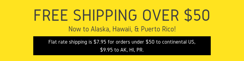FREE Shipping over $50+