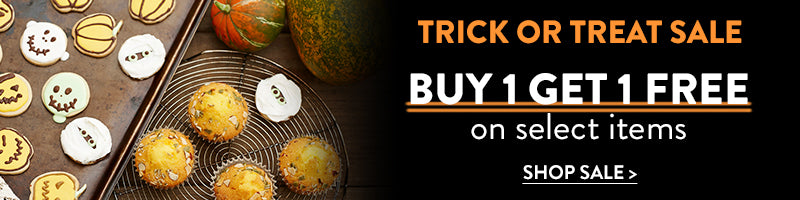 Trick or Treat Sale. Buy 1 Get 1 Free on select items with code NOTRICK.
