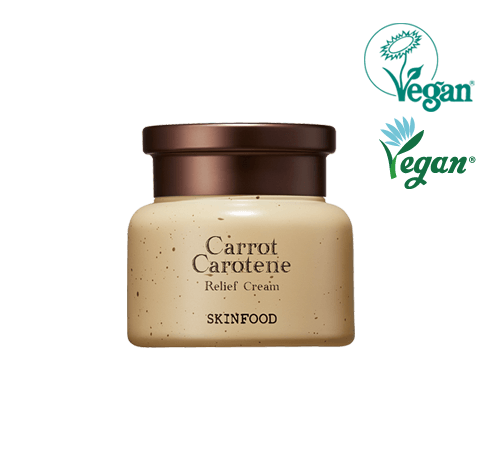 SKINFOOD Carrot Carotene Relief Cream. Vegan Formula. For Sensitive Skin Types.