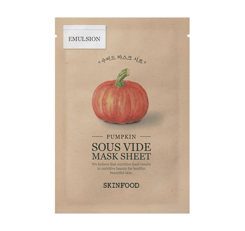 Pumpkin Sous Vide Mask Sheet