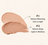 SKINFOOD Salmon Dark Circle Concealer Cream Swatches #1 Salmon Blooming, #2 Salmon Beige
