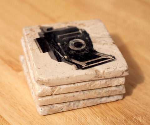 Old Fashion Camera Coasters