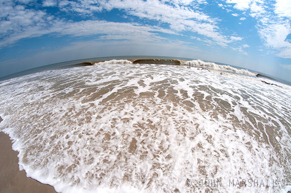 Fish Eye View of Atlantic Ocean