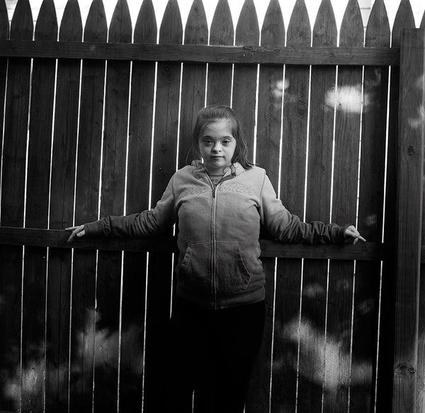 Katie and the fence