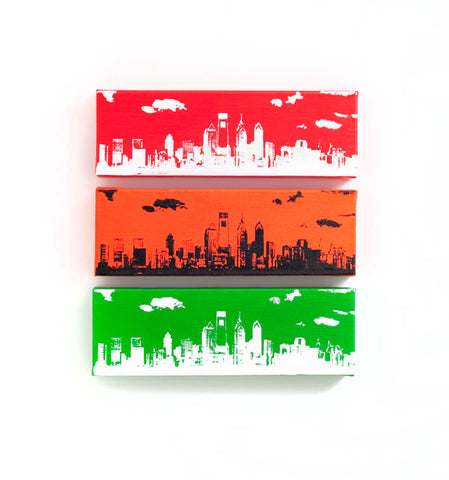 Philadelphia Skyline Wall Art Sports Trio