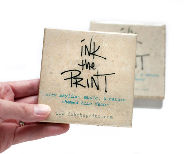 Custom Business Logo Coasters by Ink the Print