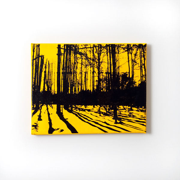 Yellow and Black Forest Nature Print