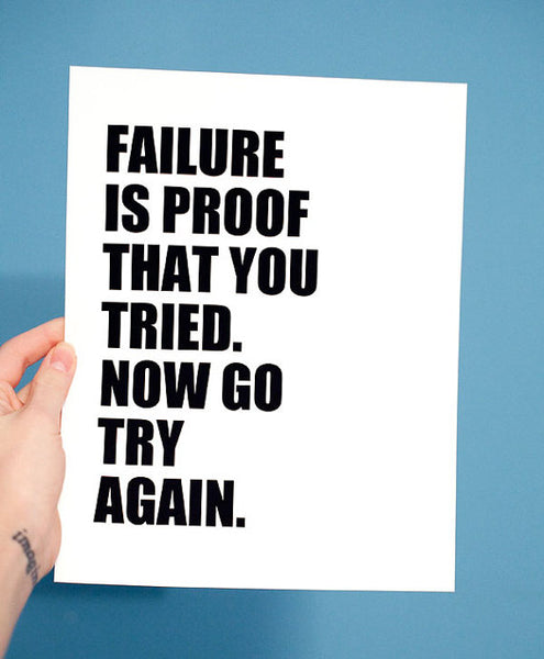 Failure Quote Print