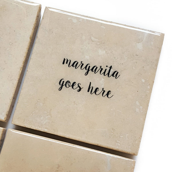 Margarita Coaster Gift by Ink the Print