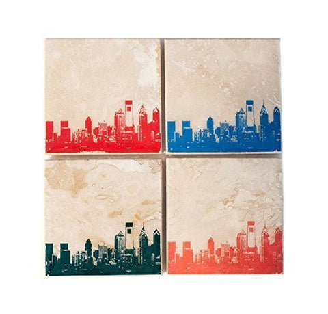 Philadelphia Skyline Coaster Set
