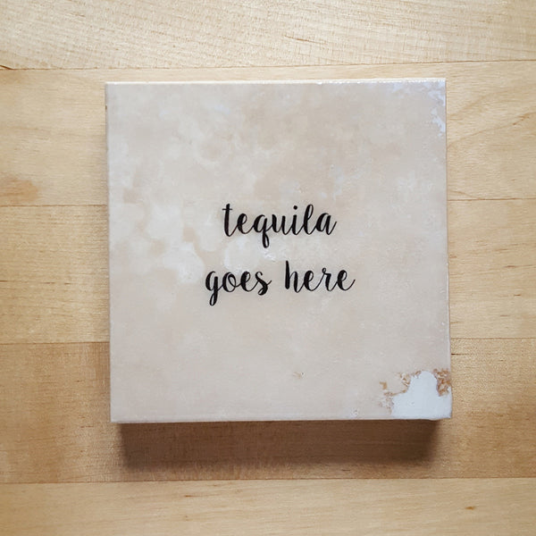 Tequila Coaster by Ink the Print