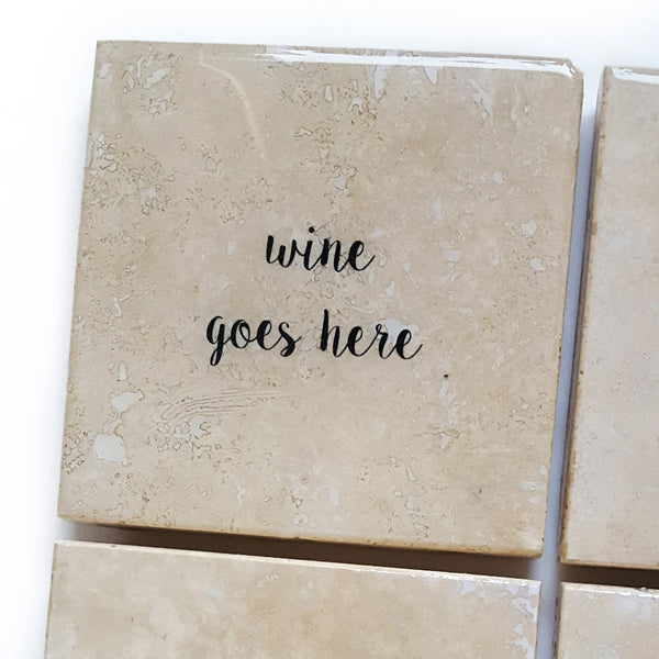 Wine Coaster by Ink the Print