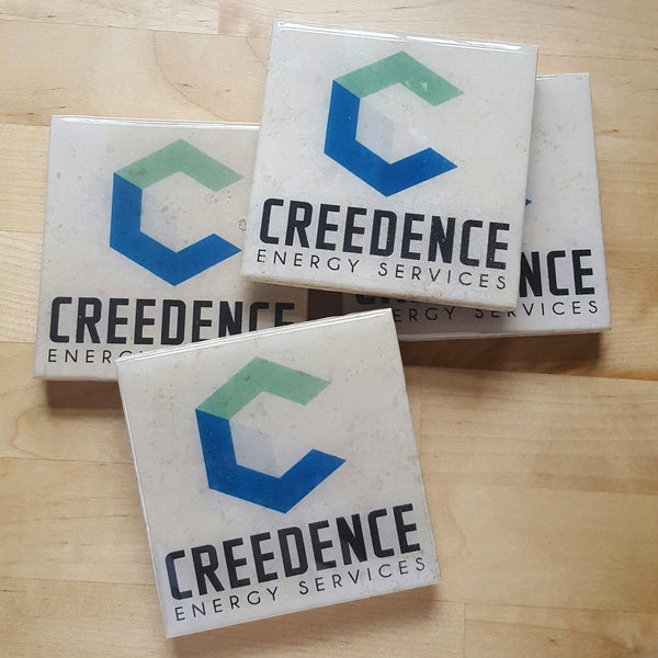 Company Logo Coasters (Custom Coasters with Business Logo)