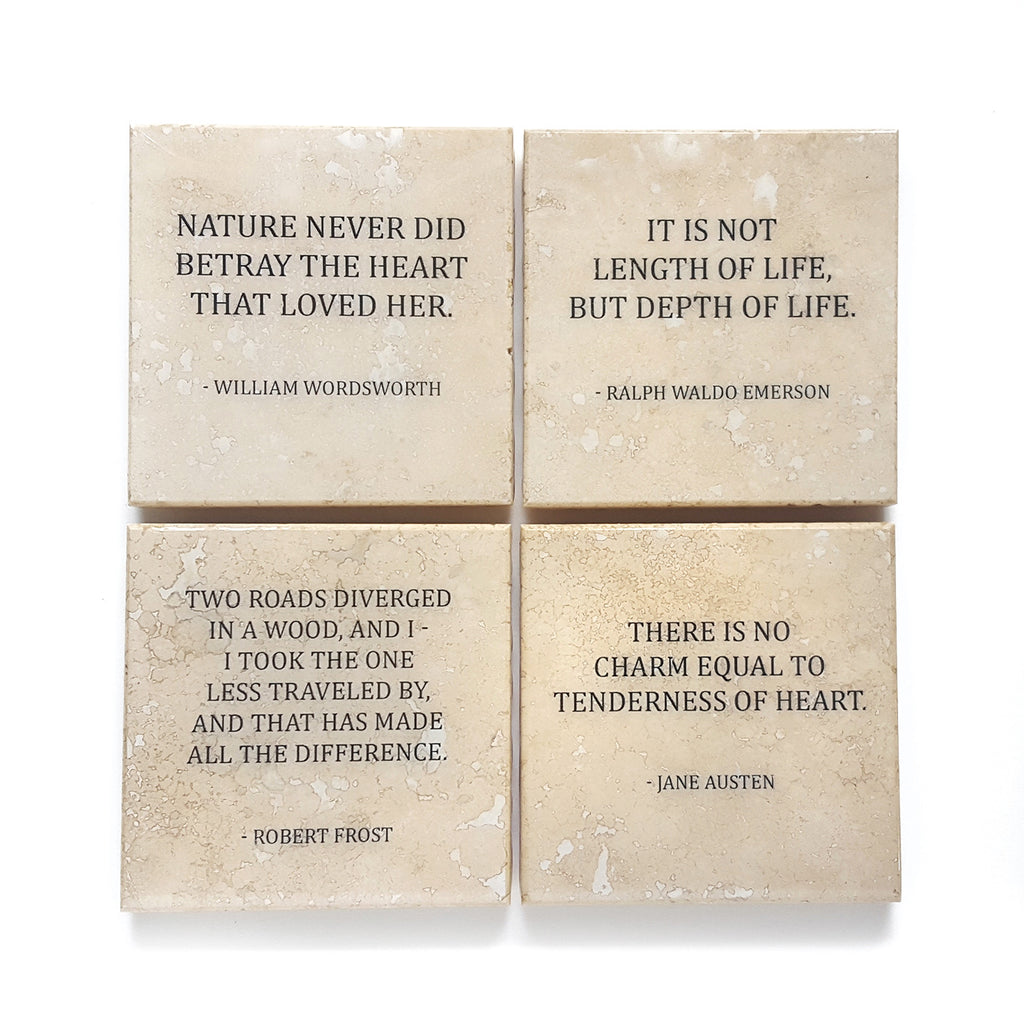 Literature Quote Coaster Set by Ink the Print