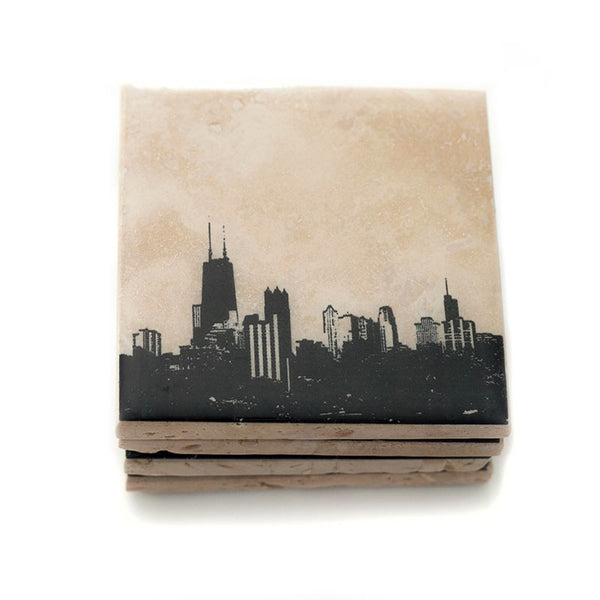 Chicago Skyline Coasters