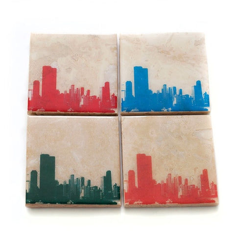 Chicago Skyline Coaster Set