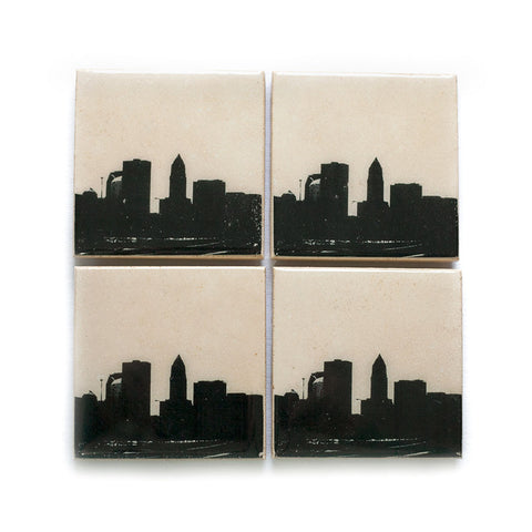 Cleveland Skyline Coaster Set