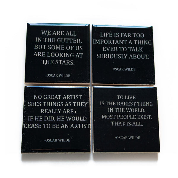 Oscar Wilde Quote Coaster Set