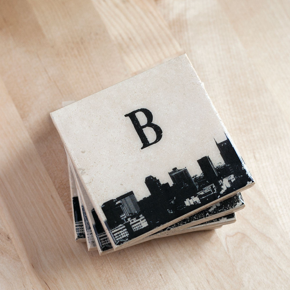 Personalized City Skyline Coasters