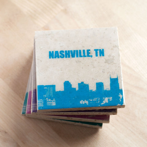 Custom City Skyline Coaster Set