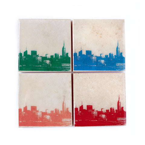 New York City Skyline Coaster Set