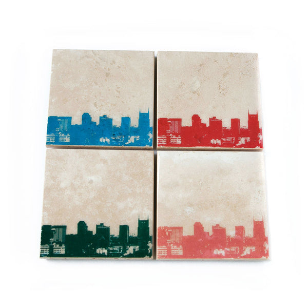 Nashville Skyline Coaster Set