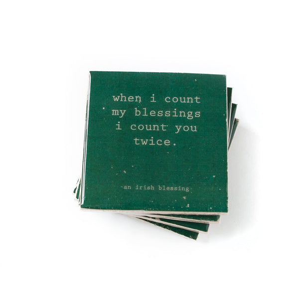 Irish Blessing Quote Coasters