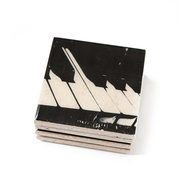 Black and White Piano Coaster