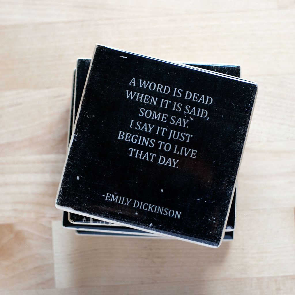 Emily Dickinson Quote Coasters