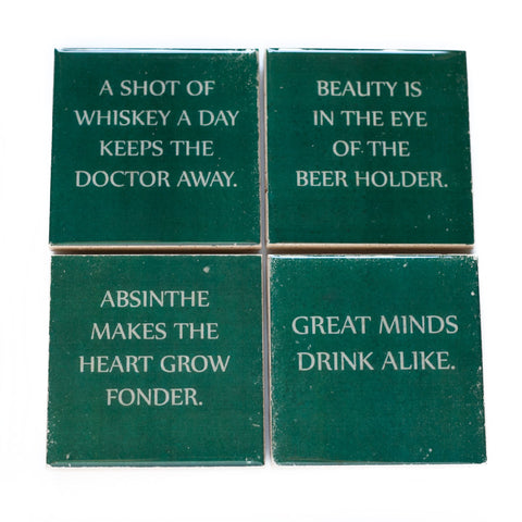 Wise Saying Drinking Quote Coasters