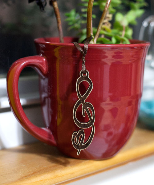 Treble Clef Music Note Ornament