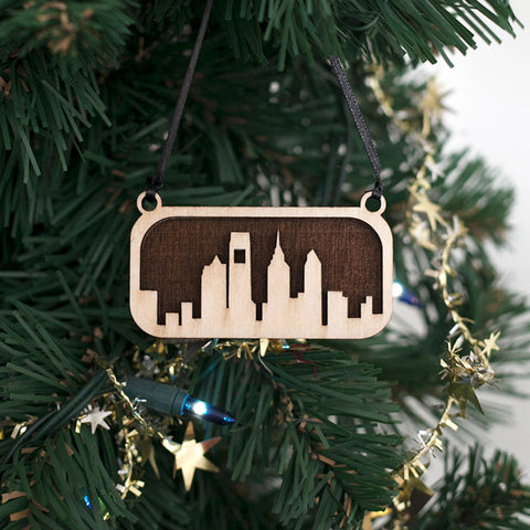 Philadelphia Skyline Tree Ornament