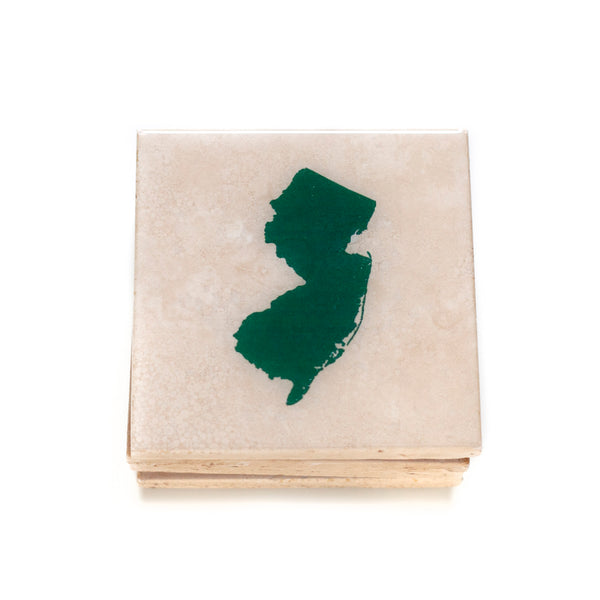 NJ Coaster by Ink the Print