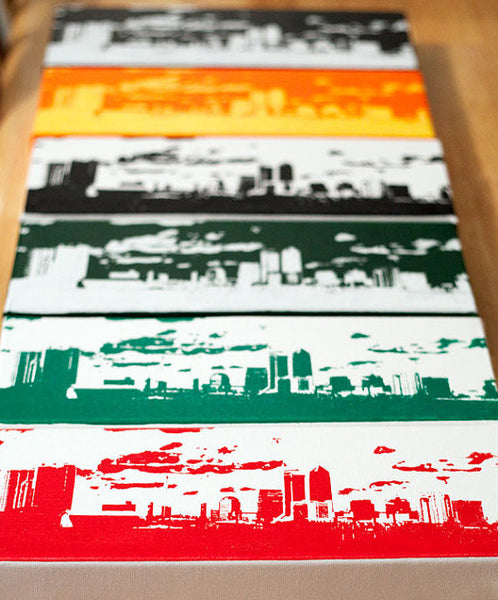 Jacksonville City Skyline Wall Art