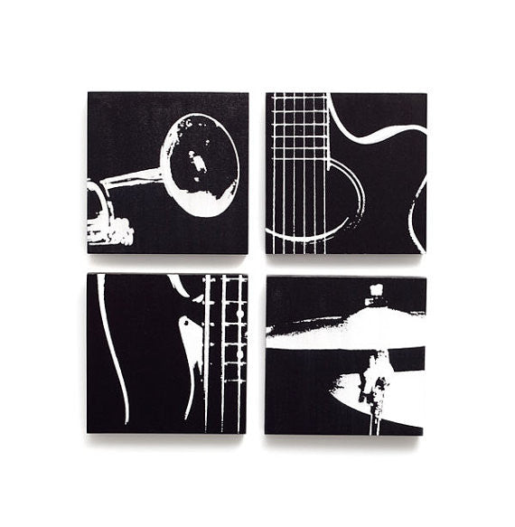 Black and White Music Art