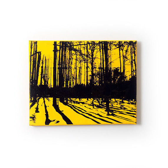 Yellow and Black Nature Wall Art