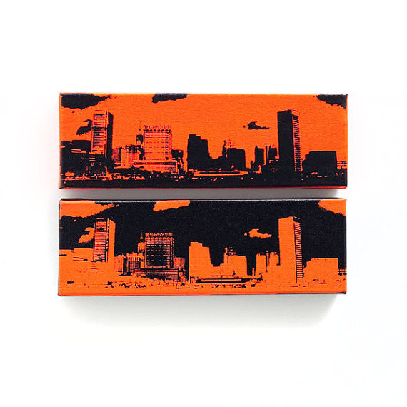Baltimore Skyline Canvas Wall Art