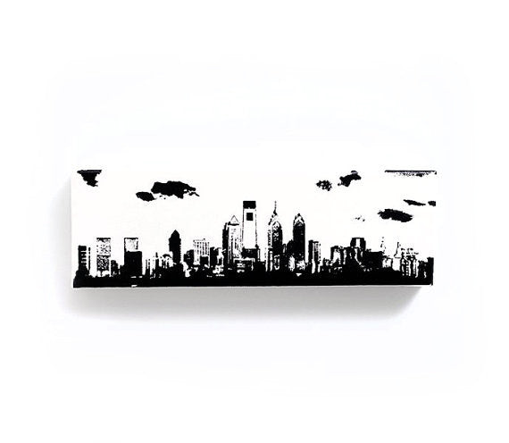 Philadelphia Skyline Canvas Wall Art