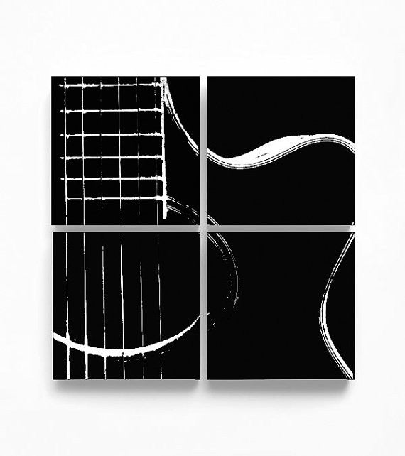 Acoustic Guitar Abstraction Wall Art