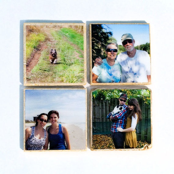 Custom Photo Coaster Set in Color