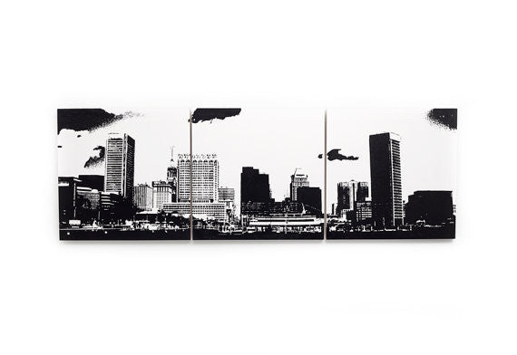 Baltimore Skyline Large Wall Art