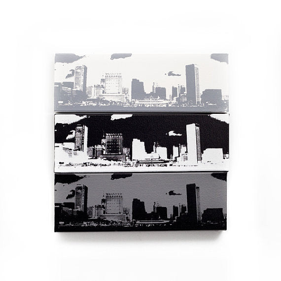 Baltimore City Skyline Canvas Wall Art