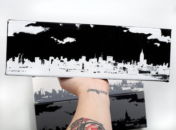NYC Skyline Wall Art by Ink the Print