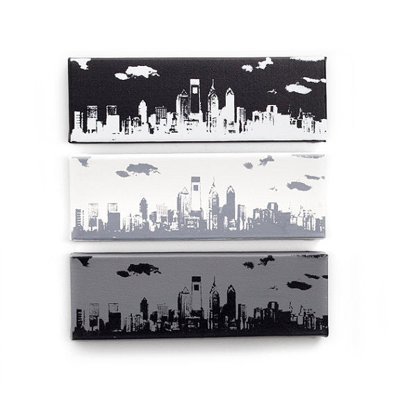 Philadelphia City Skyline Canvas Wall Art