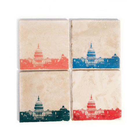Washington DC Skyline Coaster Set