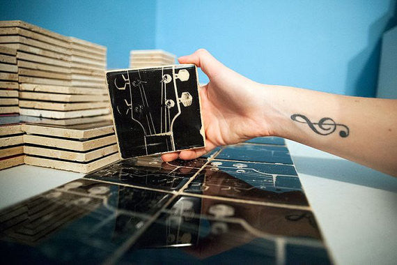 Guitar Coasters by Ink the Print