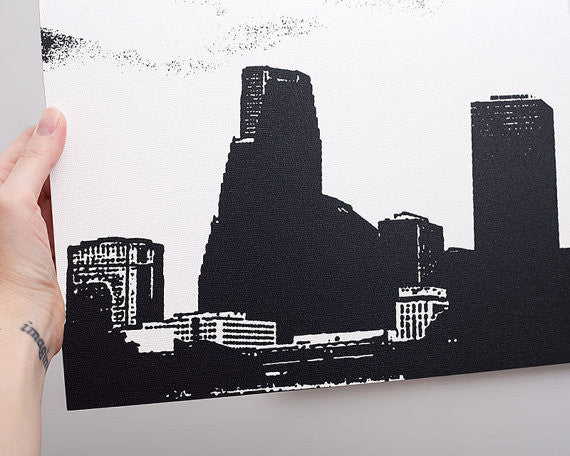 Houston Skyline Large Wall Art by Ink the Print