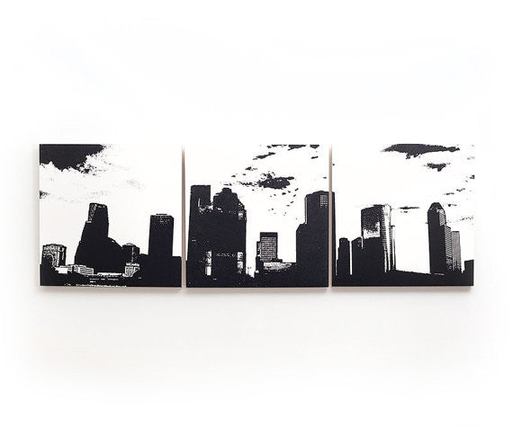 Houston Skyline Large Wall Art